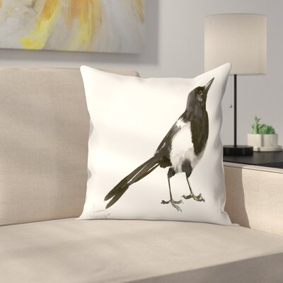 Suren Nersisyan Magpie 5 Throw Pillow Size: 18 x 18