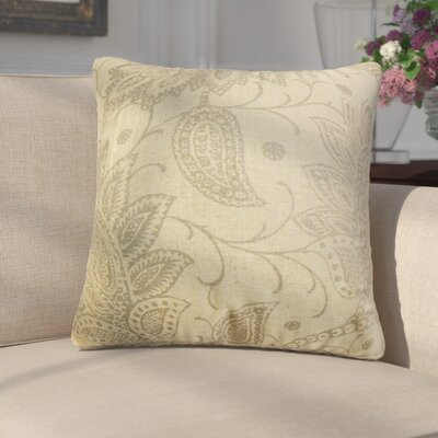 Fabia Floral Throw Pillow Color: Brown