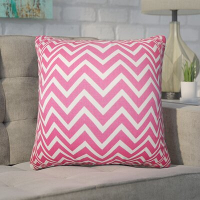 Witter Zigzag Cotton Throw Pillow Color: Candy Pink
