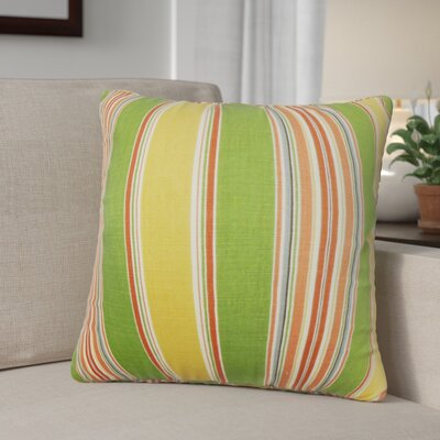 Ashprington Stripes Throw Pillow Color: Multi, Size: 22 x 22