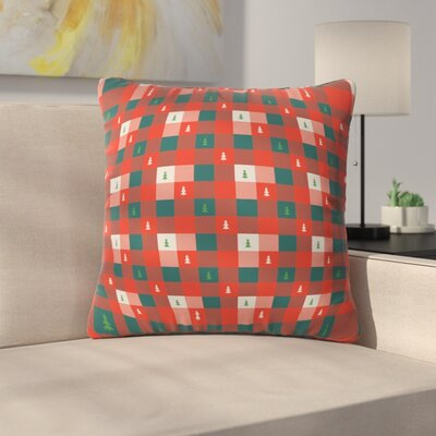Mini Tree Plaid Indoor/Outdoor Throw Pillow Size: Large