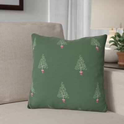 Filigree Forest Throw Pillow Size: 18 H x 18 W, Color: Green