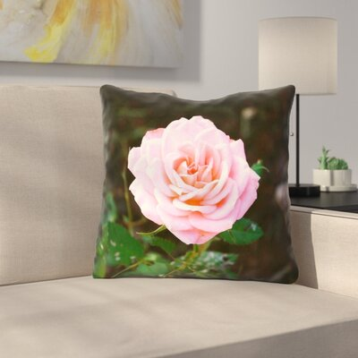 Rose Linen Throw Pillow Size: 20 x 20