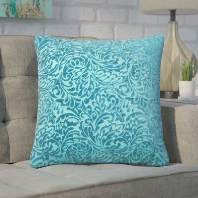 Winans Damask Throw Pillow Color: Peacock