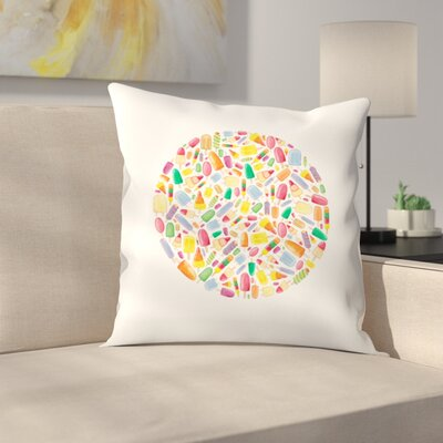 Elena ONeill Ice Lolly Circle Throw Pillow Size: 14 x 14
