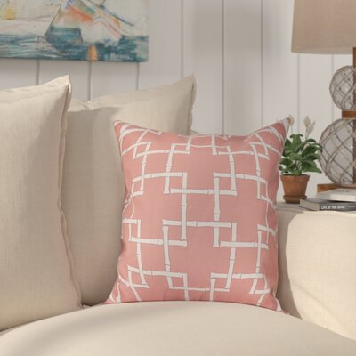 Connelly Bamboo 1 Geometric Throw Pillow Size: 16 H x 16 W, Color: Coral