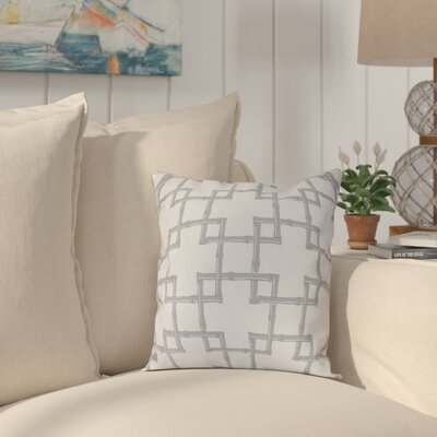 Connelly Bamboo 2 Geometric Throw Pillow Size: 16 H x 16 W, Color: Gray