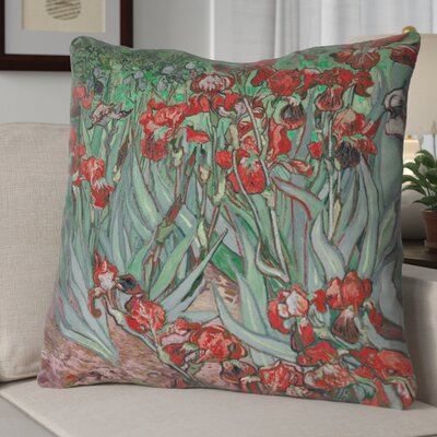 Morley Irises Euro Pillow Color: Red