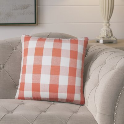 Berkeley Plaid Cotton Throw Pillow Color: Papaya