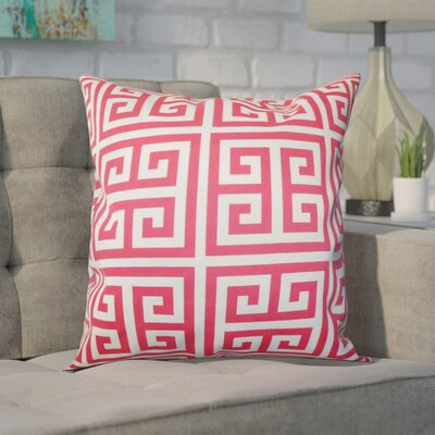 Blevins 100% Cotton Throw Pillow Color: Pink, Size: 18 H x 18 W