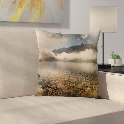 Nature Reflections on Lake Square Pillow Cover Size: 20 x 20