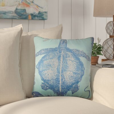 Simonton Coastal Throw Pillow Color: Sky Blue