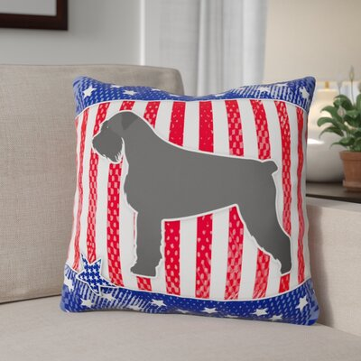 Patriotic Square Solid Indoor/Outdoor Throw Pillow Size: 18 H x 18 W x 3 D