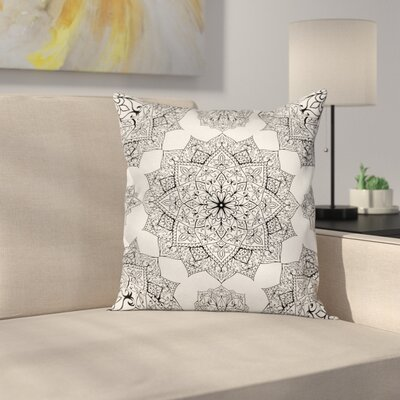 Eastern Mosaic Patterns Square Pillow Cover Size: 20 x 20