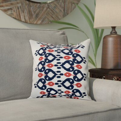 Sabrina Geometric Print Throw Pillow Size: 18 H x 18 W, Color: Navy Blue