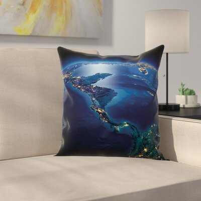 Central America Countries Square Pillow Cover Size: 24 x 24