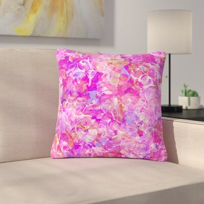 Ebi Emporium Bloom on! Abstract Outdoor Throw Pillow Color: Purple, Size: 16 H x 16 W x 5 D