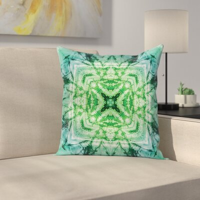 Tie Dye Bohemian Retro Square Pillow Cover Size: 16 x 16