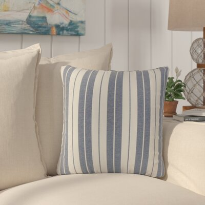 Capri Stripes Cotton Throw Pillow Color: Navy