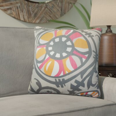 Wickson Modern Geometric Cotton Throw Pillow Color: Gray