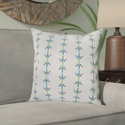 Bridgehampton Stripe Outdoor Throw Pillow Size: 20 H x 20 W, Color: Teal