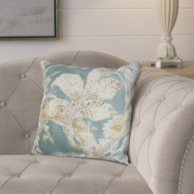 Ilana Throw Pillow Color: French Blue, Size: 18x18