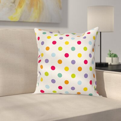 Colorful Dots Pillow Cover Size: 16 x 16