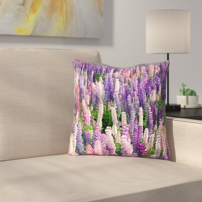 Joyeta Lavender Field Indoor/Outdoor Throw Pillow Size: 20 x 20
