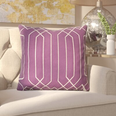 Kaivhon Traditional Linen Throw Pillow Size: 18 H x 18 W x 4 D, Color: Eggplant