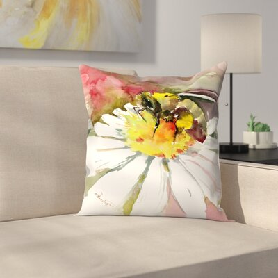 Honey Bee 1 Throw Pillow Size: 18 x 18