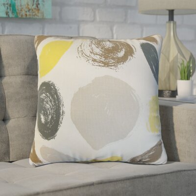 Zander Geometric Cotton Throw Pillow Color: Yellow