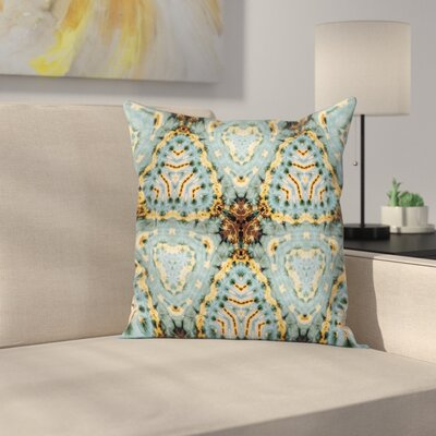 Tie Dye Batik Artsy Square Pillow Cover Size: 18 x 18