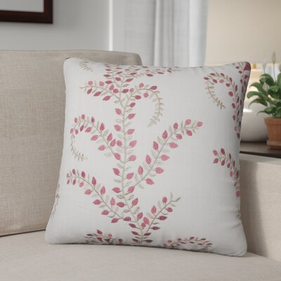Lloyd Floral Linen Throw Pillow Color: Chili Pepper
