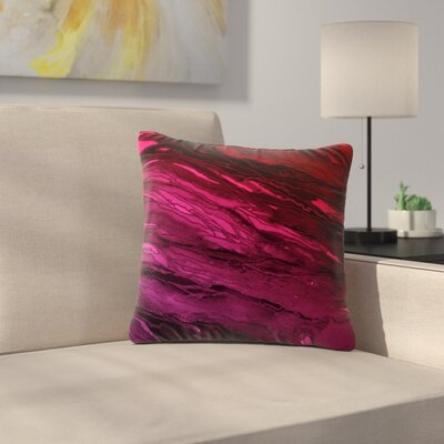 Agate Magic Throw Pillow Size: 16 H x 16 W x 6 D, Color: Deep Purple