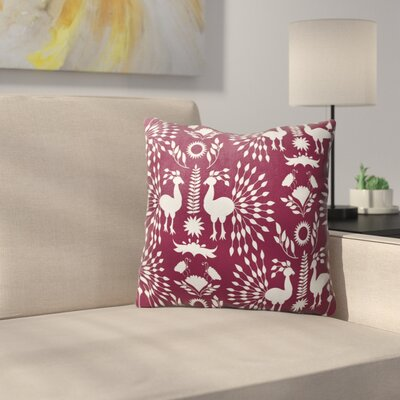 Kaivhon Outdoor Throw Pillow Size: 16 x 16, Color: Plum/ Purple
