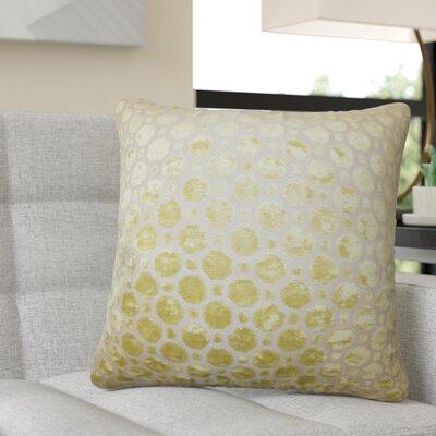 Richart Geometric Cotton Throw Pillow Color: Yellow