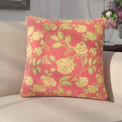 Ehren Floral Cotton Throw Pillow