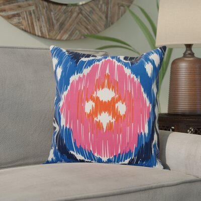Eudora Original Outdoor Throw Pillow Size: 18 H x 18 W, Color: Blue/Pink