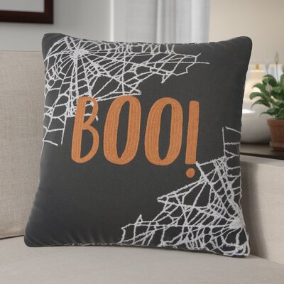 BOO! 100% Cotton Throw Pillow
