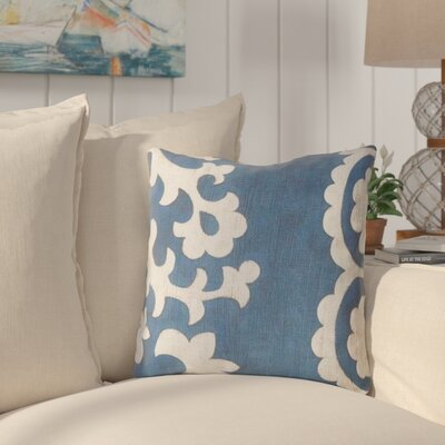 Butler Scroll Outdoor Throw Pillow Size: 18, Color: Blue