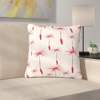 Suzanne Carter Dandelion Floral Outdoor Throw Pillow Size: 16 H x 16 W x 5 D