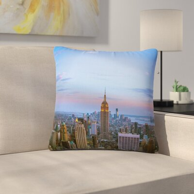 Juan Paolo Empire State of Mind Outdoor Throw Pillow Size: 18 H x 18 W x 5 D