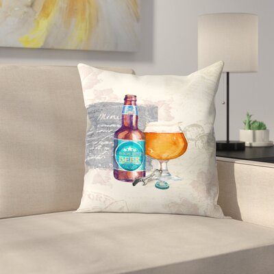 Designer Beer Throw Pillow Size: 20 x 20