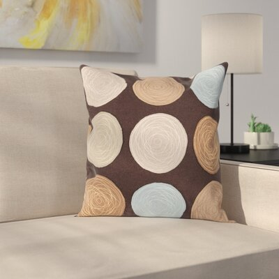 Courtland Soothing Throw Pillow Size: 22 H x 22 W, Color: Dark Brown, Filler: Polyester