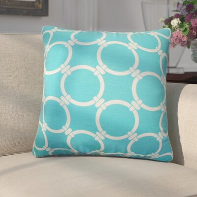 Donatella Geometric Cotton Throw Pillow Color: Sky Blue