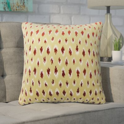 Wyndmoor Ikat Throw Pillow Color: Cayenne