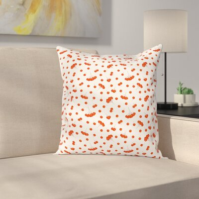 Juicy Ashberries Graphic Square Pillow Cover Size: 18
