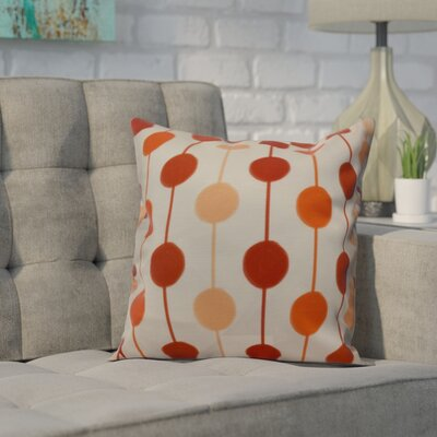 Leal Brady Beads Throw Pillow Size: 26 H x 26 W, Color: Orange