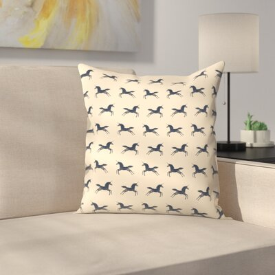 Florent Bodart Unicorns Are Real Pattern Throw Pillow Size: 14 x 14