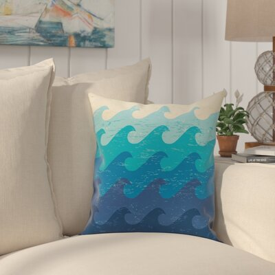 Pembrook Deep Sea Throw Pillow Size: 26 H x 26 W, Color: Blue